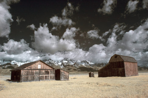 Infrared picture of 'The Back Barns' by Nadine Levin Photography