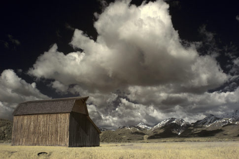 Infrared picture of 'The Last Barn' by Nadine Levin Photography